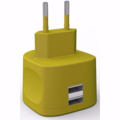 Picture of Kit Kit Fresh EU 3.4A Mains Charger in Yellow