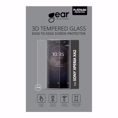Picture of Gear GEAR 3D Edge to Edge Tempered Glass Screen Protector for Sony Xperia XA2 in Clear