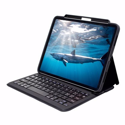 Picture of Mako MAKO GOTYPE QWERTZ (Swiss) Rugged Keyboard Case for Apple iPad Air (2020)/Pro 11 (2018/20) in Black