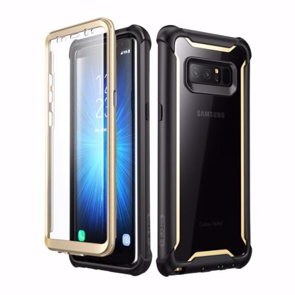 Picture of i-Blason i-Blason Ares Clear Case for Samsung Galaxy Note 8 in Black/Gold